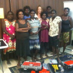 Fran with Beading Ladies in Pormpurraw QLD (far north Qld): creating a micro business of jewellery 2012